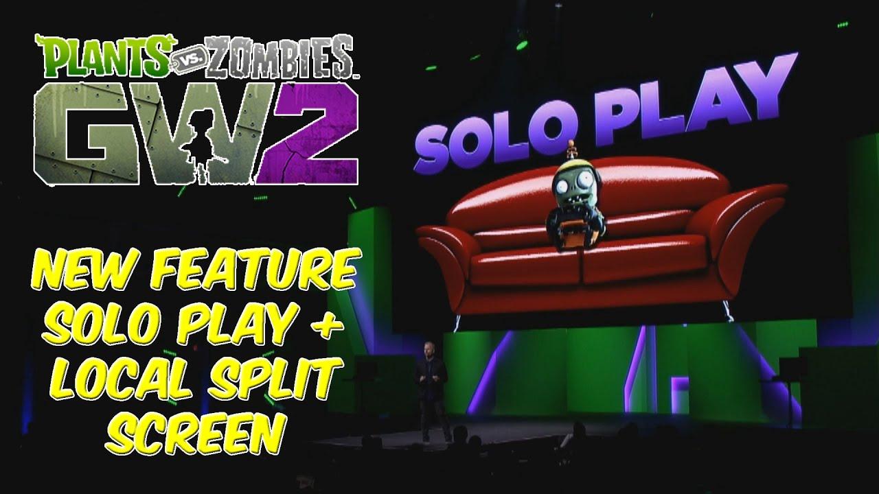 Plants Vs Zombies Garden Warfare 2 Solo Local Split Screen Youtube