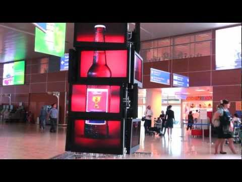 MediaPort advertising in Terminal D Sheremetyevo airport Moscow, Russia