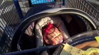 Trip to Walmart with Reborn Baby Paisley!! Halloween, baby stuff, and desserts!!