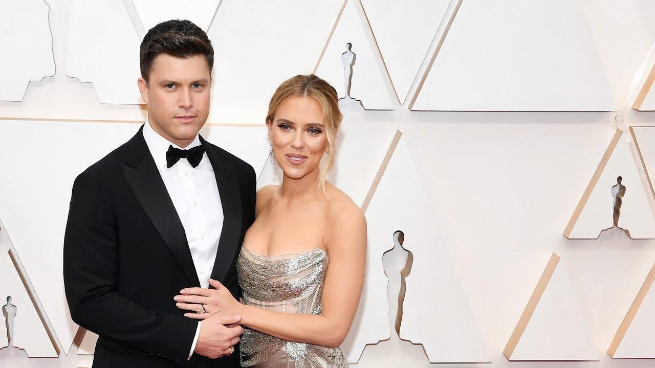 Oscars 2020: Scarlett Johansson and Colin Jost walk red carpet ...