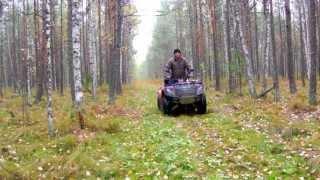 ATV Stels 600 GT поездка по зимнику через болото-2013.
