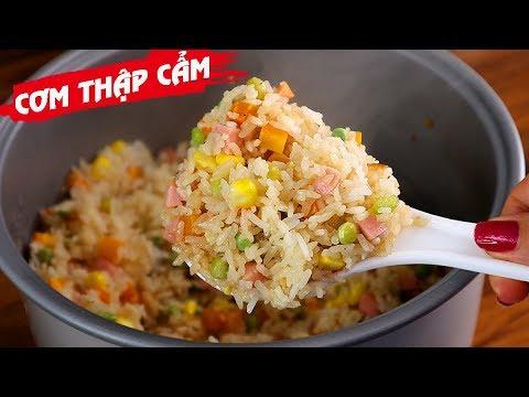 Cách nấu CƠM THẬP CẨM BẰNG NỒI CƠM ĐIỆN nhanh gọn đẹp ngon – Món Ăn Ngon