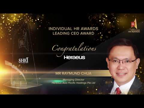 Heraeus Asia Pacific Holding Pte Ltd Leading CEO Award Recipient