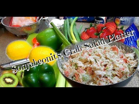 Imitation Crab Salad Platter Party Time
