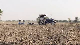 Farmtrac 6055 2017 model on Disc Harrow Plough