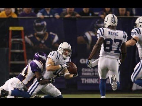 Anthony Gonzalez Hook & Ladder to Reggie Wayne    Colts at Vikings 2008