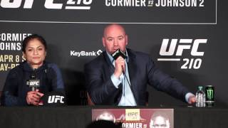 UFC 210 Post-Fight Press Conference: Dana White, Cynthia Calvillo - MMA Fighting
