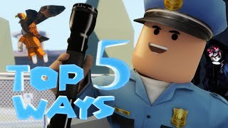 Top 5 Jailbreak Ways to Arrest - Funny Roblox Animations