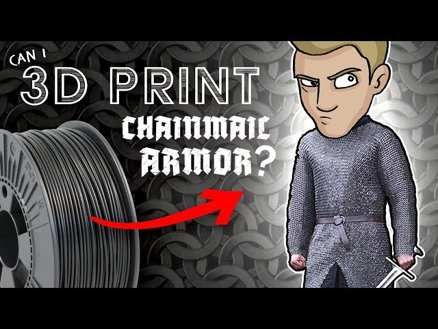 3D PRINTING My own CHAINMAIL ARMOR?!