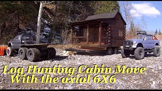 Rc Cwr Log Hunting Cabin Journey With The Axial 6x6 Hauling Team