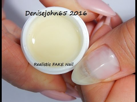 REAListically FAKE Natural Nails --OMG They look REAL !----GEL FOR ...