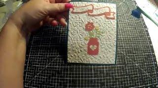 cricut ctmh artistry thank you card