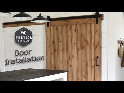 Rustica Hardware Vertical Slat Sliding Barn Door Installation Youtube