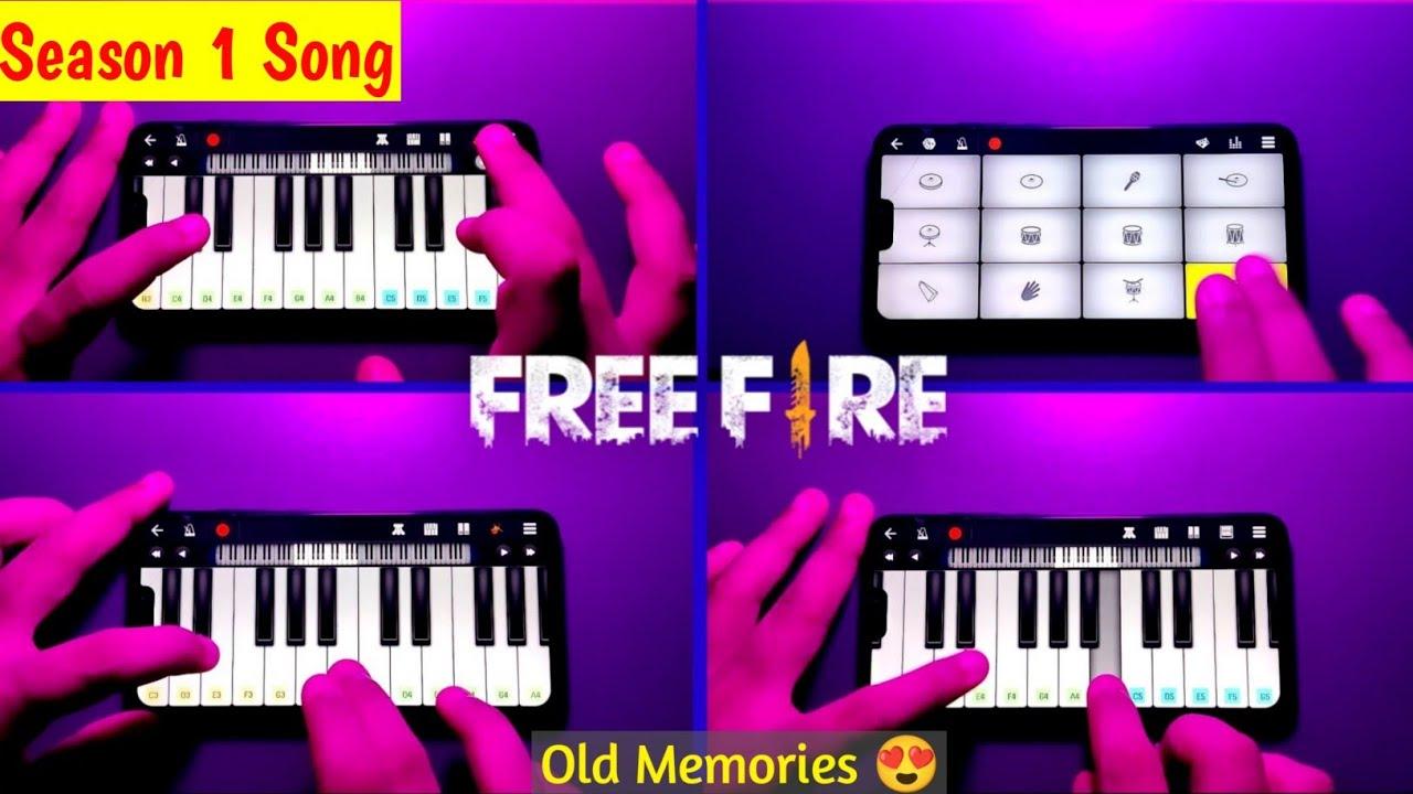 Free Fire - Season 1 Theme Instrumental Cover | Walkband App | Piano + Drumming | SB GALAXY