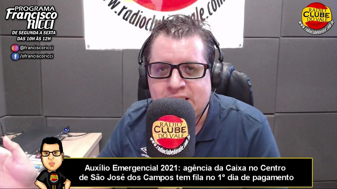 Auxílio Emergencial 2021: agência da Caixa no Centro de São José tem fila no 1° dia de pagamento