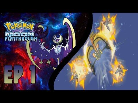 """Pokemon Moon Let's Play Gameplay Walkthrough - Part 1 """"TAPU KOKO SAVING LIVES"""""""