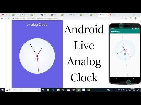 How To Create Live Analog Clock In Android