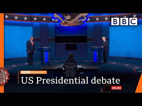 US Election 2020: Trump and Biden row over Covid, climate and racism 🔴 @BBC News live - BBC