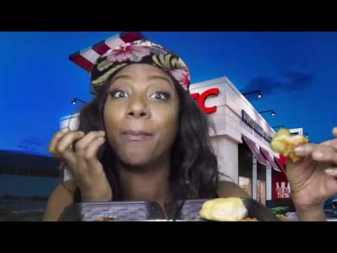 KFC Nashville Hot and Georgia Gold Tenders|Review|Mukbang
