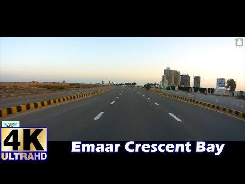 #Karachi : Emaar Crescent Bay   Sea View   Road  Drive   #4K   Ultra HD