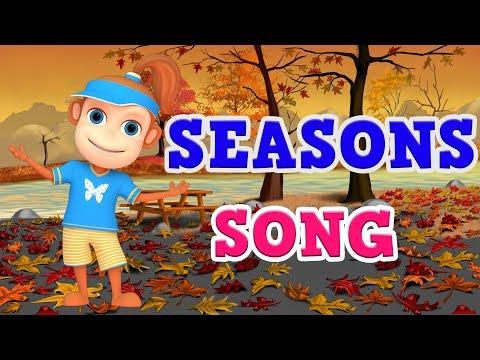 Season Song Video for Children | Preschool, Kindergarten (Learn 4 Seasons of the Year )