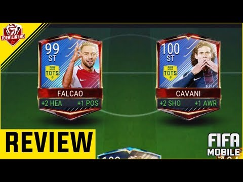 FIFA MOBILE 94 TOTS CAVANI & 93 TOTS FALCAO REVIEW #FIFAMOBILE TOTS PLAYER REVIEW VS ATTACK GAMEPLAY