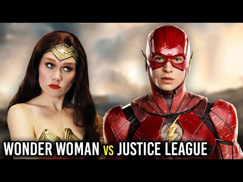 WONDER WOMAN REACTS TO JUSTICE LEAGUE! (Parody)