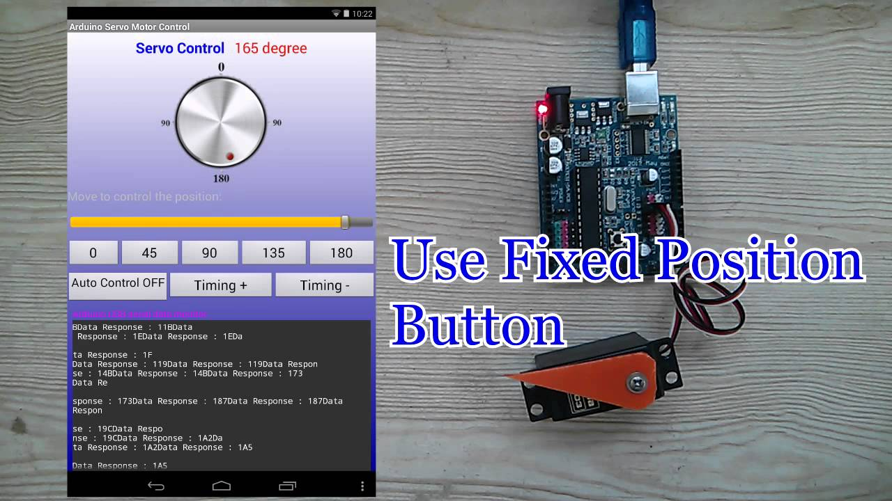 Android arduino usb servo motor control youtube