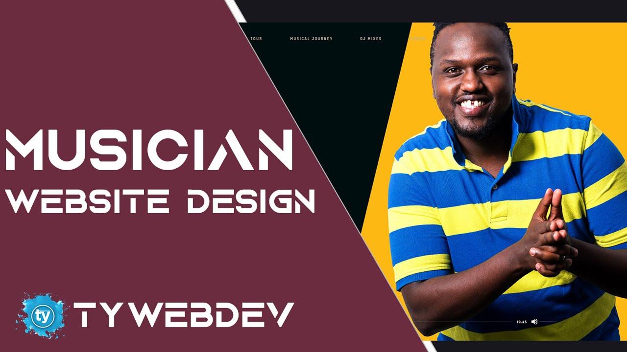 Musician Songwriter DJ Website Design & Development | WordPress Web Design | TYWebDev