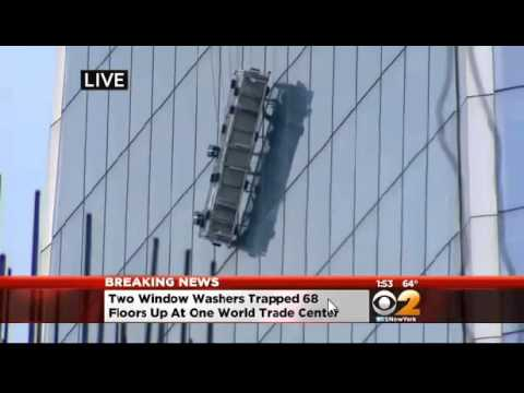 Delightful Window Washers Stuck On Scaffolding On 68th Floor Of The Freedom Tower    YouTube