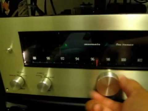 Marantz 10B FM Tube Tuner Demonstration & Bandscan (high quality audio)