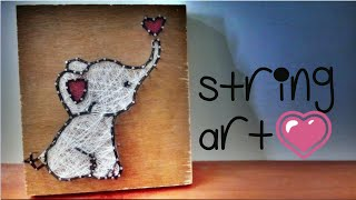 String Art for Beginners | How to make Elephant String Art | Tutorial | Catchy Crafts