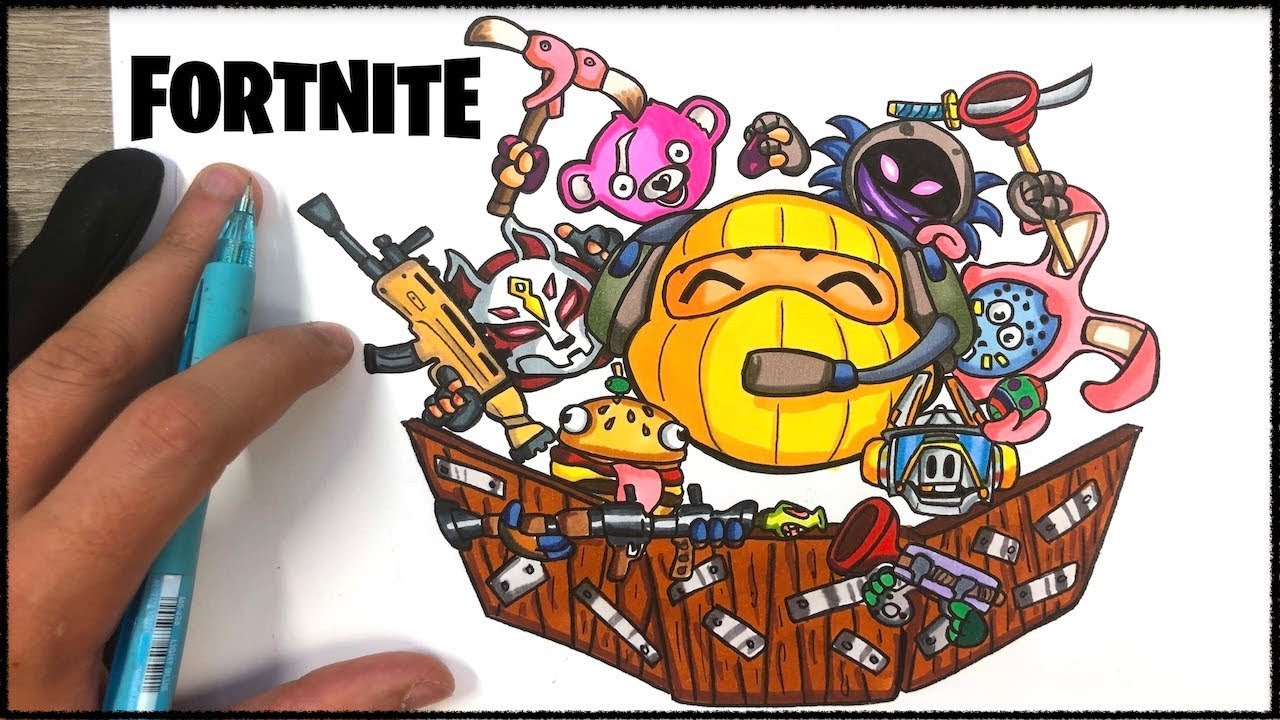DOODLE ART FORTNITE ! SpeeDrawing - YouTube