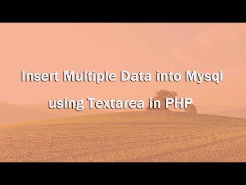 Insert Multiple Data Into Mysql Using Textarea In PHP