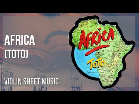EASY Violin Sheet Music: How to play Africa by Toto