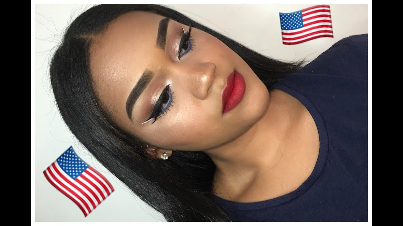 4th of july makeup tutorial youtube baditri Image collections