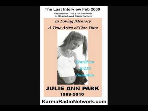 JULIE ANN PARK on The Stir 2009-THE LAST INTERVIEW