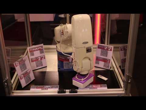 DENSO Robotics - Robot Uses QR Code® Scanner - YouTube