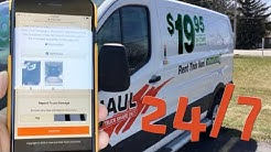 A full tour of U-Haul's self-service truck rental service U-Haul Truck Share 24/7