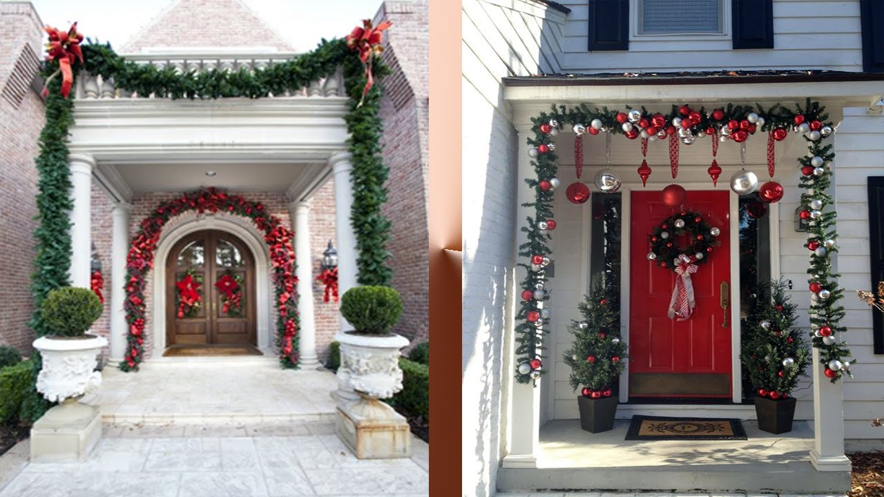 beautiful entrance decoration ideas for christmas youtube - Front Door Entrance Christmas Decoration
