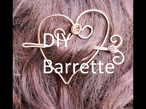DIY Rustic Raw Copper Hair Slide Barrette