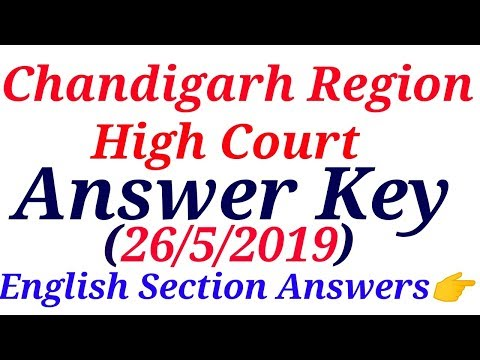 Chandigarh High Court Answers|26 May 2019|English|Special Education