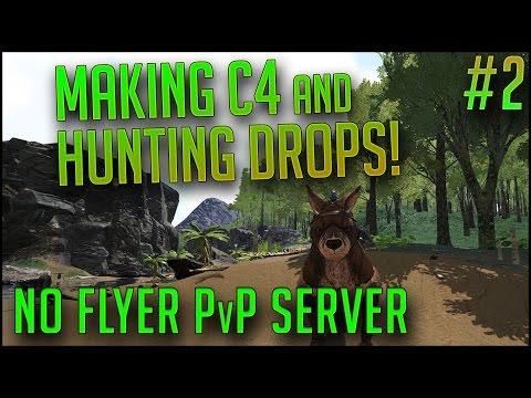 MAKING C4 AND ROCKETS!   PvP No Flyer Server   Episode 2   ARK Survival Evolved Let's Play