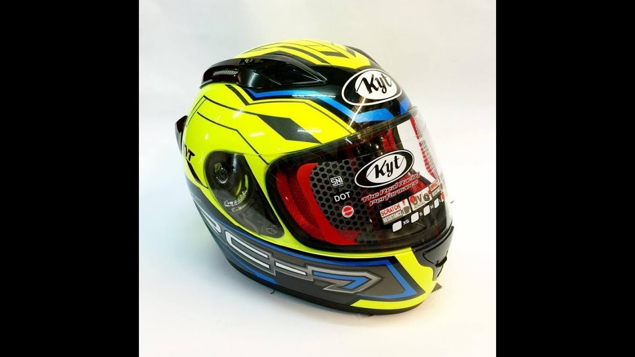 Unboxing Helm KYT RC 7 Yellow Fluo