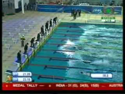 Khade wins 50m freestyle at the Commonwealth Youth Games
