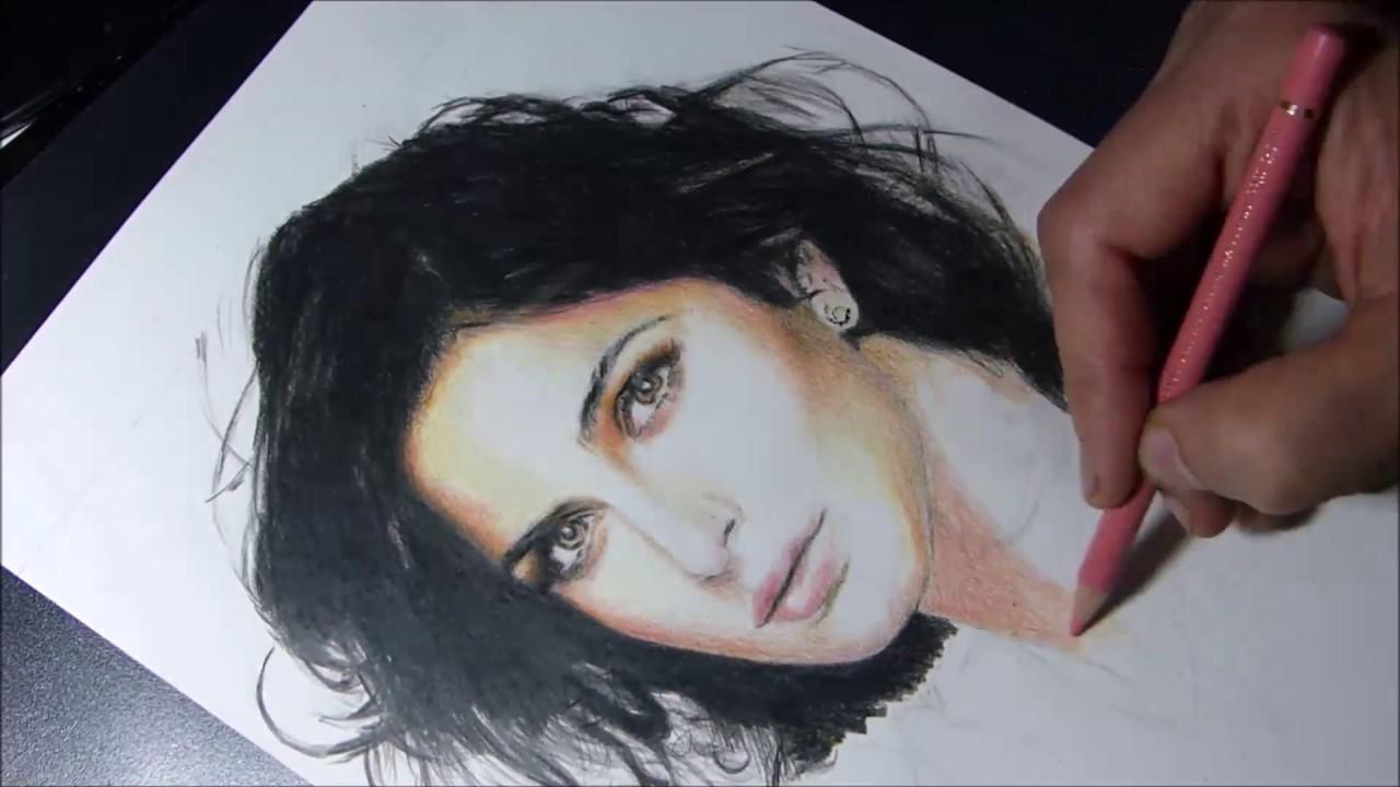 Drawing katrina kaif youtube