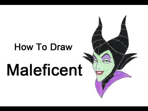 How To Draw Maleficent Sleeping Beauty Youtube