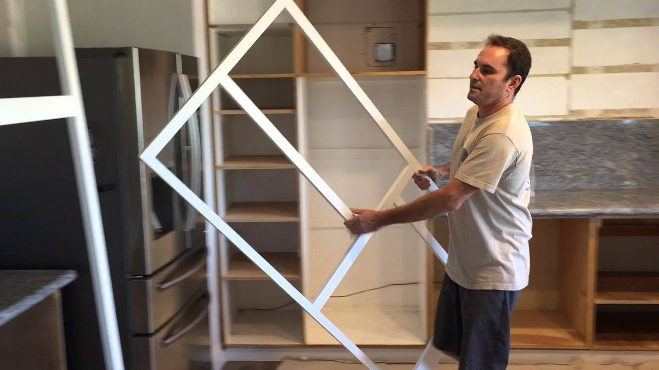 How to setup new frame when refacing kitchen cabinets ...