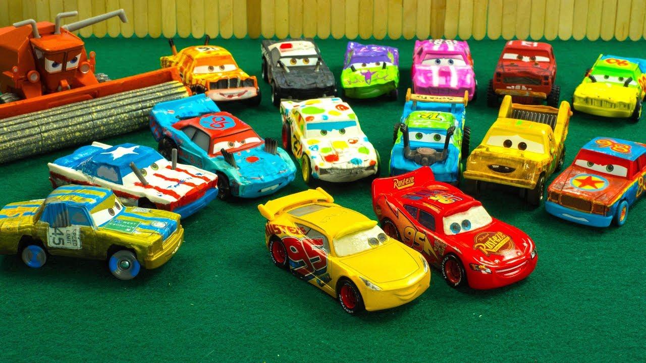 Lightning Mcqueen Cruz Ramirez Picnic Derby Dash Race Cars Drive FAST