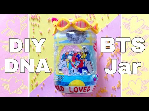 🌈 DIY DNA Jar ❤️ Inspired by DNA by BTS Love Yourself: Her 👑